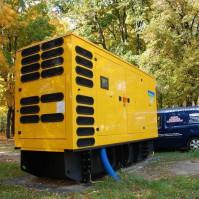 agregat prądotwórczy żółty