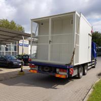 Serwerownie mobilne, transport samochodem