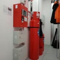 Gaszenie gazem skrzynki czerwone